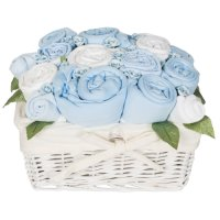 Country Garden Baby Basket - Cornflower Blue