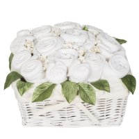 Country Garden Baby Basket  - Classic White
