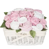 Country Garden Baby Basket - Sugar Pink