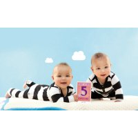 Milestone Baby Cards - Twins
