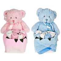 Twins - Rosebud Teddy Box - Candy Stripe