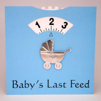 Baby Feed Wheel - Card - Blue