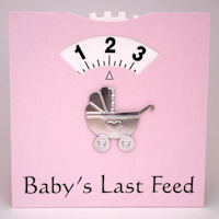 Baby Feed Wheel - Card - Pink