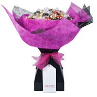 Lady in Waiting Chocolate Bouquet - Fuchsia Pink - Large