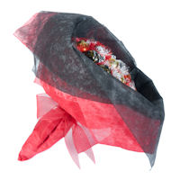 Valentines Day Chocolate Posy - Scarlet Red