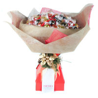 Christmas Chocolate Bouquet - Red and Gold - Extra Large