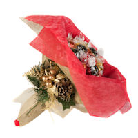Christmas Chocolate Posy - Red and Gold - Large