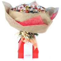 Christmas Chocolate Bouquet - Red and Gold - Large