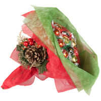 Christmas Chocolate Posy - Red and Green