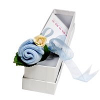 Flower Bud - Birth Certificate Keepsake - Baby Boy Blue