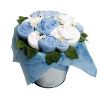 Twins Flower Pail - Baby Boy Blue