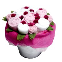 Twins Flower Pail - Baby Girl Pink