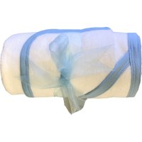 Hooded Towel and Baby Wash Cloth Bathing Bundle - Blue