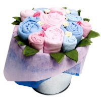 Baby clothes bouquets a modern twist on new baby flowers combining the beauty of flowers with these baby essentials brings new mums and mums to be a gift range that is as beautiful as it is practical negle Choice Image