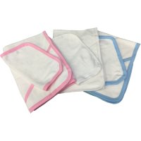 Hooded Towel and Baby Wash Cloth Bathing Bundle - White