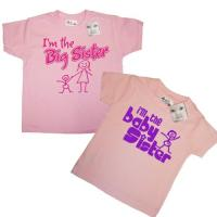 Sisterly Love T Shirt Gift Set Big Sister Baby Sister