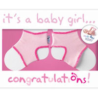 Sock Ons - Baby Girl Card
